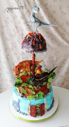 Jurassic park - cake by Jurassic World, Jurassic Park, Park Tool, Dinosaur Cake, 5th Birthday, Dinosaurs, Fondant, Lego, Pastel