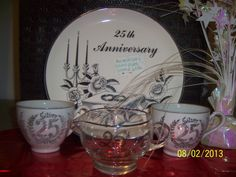 Vintage China Silver 25th Anniversary plate by NAESBARGINBASEMENT, $40.00