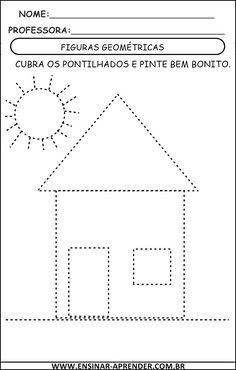 Worksheets for kids - Kindergarten Shape Worksheets For Preschool, Shapes Worksheets, Preschool Writing, Kindergarten Math Worksheets, Tracing Worksheets, Preschool Learning Activities, Alphabet Worksheets, Toddler Learning, Teaching Kids
