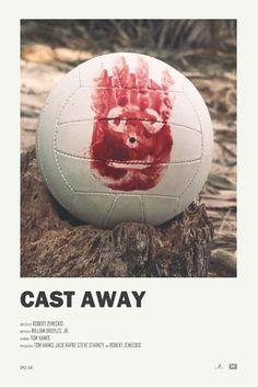 Cast Away alternative movie poster Visit my Store