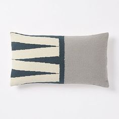 """Steven Alan Color Block Zigzag Pillow Cover – Blue Lagoon #westelm Size: 12""""x21"""" Price: $24.99 (on sale) - for sofa - qty 1"""