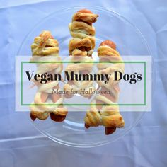 Vegan Mummy Dogs. Celebrate Halloween the right way with these mummy dogs and a side of dipping sauce. Easy to make with the kids.