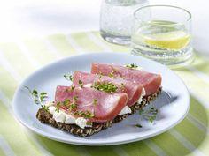 Gesundes Frühstück - der Fit-Start in den Tag! - vollkornbrot-mit-lachsschinken  Rezept