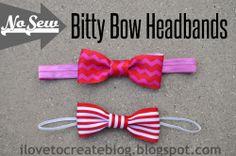 Bitty Bow Headbands (No Sew!)