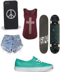 """""""skatergirl!;)"""" by epicmereltje ❤ liked on Polyvore"""
