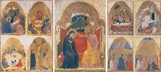 Incoronazione della Vergine e storie di Cristo, Scuola veneta seconda metà XIV sec Gallerie dell'Accademia di Venezia