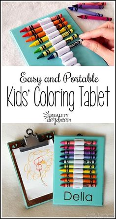 Make this reversible coloring tablet to keep your kids busy on long drives and in the waiting room at the doctor's office! Clipboard on one side... crayons on the other! {Reality Daydream}