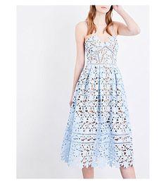 SELF-PORTRAIT Azaelea guipure-lace midi dress