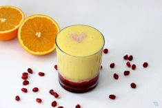 Sunrise Juice Makes 1 serving  1c fresh chopped pineapple  1 whole orange, peeled  4 ounces pomegranate juice  In a Vitamix, or high-speed blender, blend pineapple and orange until frothy and smooth. Pour!