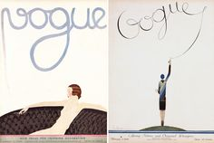 old school Vogue covers used to be illustrated by famous artists for each issue.