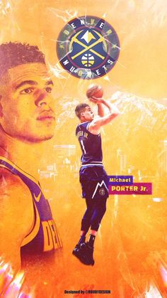 Michael Porter Jr, Nba Pictures, Kobe Mamba, Nba Wallpapers, Denver Nuggets, Sports Graphics, Larry Bird, Wallpaper Size, Derrick Rose
