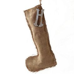 Burlap stocking - another variation