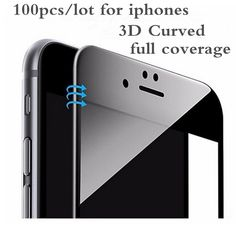 AGREAL 100pcs/lot 9H 3D Curved Carbon Fiber Soft Edge Tempered Glass For iPhone 6 Plus 6s 7 7 plus Phone Screen Protector Film  #Affiliate