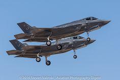 "Lockheed Martin F-35A Lightning II JSF | 11-5039 & 11-5040 61st Fighter Squadron (61 FS) ""Top Dogs"" Luke AFB, AZ USA"