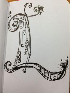 Doodle Alphabet, Doodle Art Letters, Doodle Lettering, Creative Lettering, Typography, Alphabet Cards, Quilling Patterns, Zentangle Patterns, Zentangles
