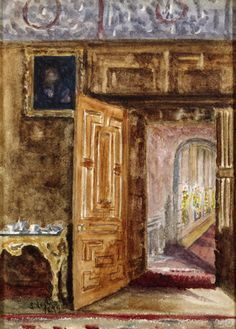 View from the Drawing Room to the Bright Gallery North, Lyme Park, by Sybil Legh