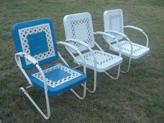I have these chairs sitting in my back yard still waiting for a new home!