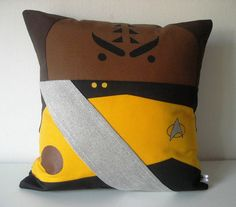 Star+Trek+TNG+inspired+Worf+pillow+cushion+cover+by+Morondanga,+€19.00