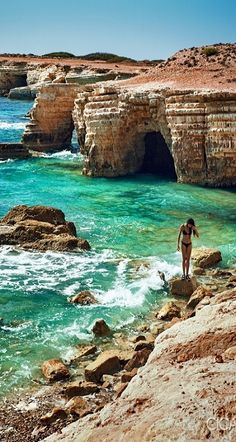 Sea Caves, Paphos, Cyprus (by Alex Cican on Flickr)