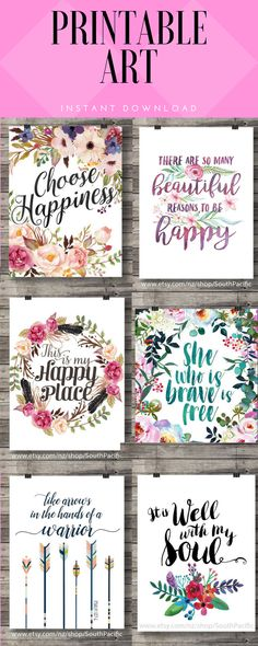Simply Gorgeous printable art for any room in your house.  #ad#etsy#printableart#watercolor#quotes#homedecor#pretty#lettering#instantdownload#weddinggift#gifts#pictureframe#picture#floral#flowerprint
