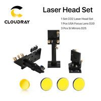 3 pcs Si Mirrors Diameter: 1 pcs USA Focusing Lens Diameter: Focal Length of Lens: / 1 Set Laser Head and Mirror Mounts (High Quality Aluminium Alloy with Air Assist Nozzle, Joint Plate and Belt Fastener) Mirror Diameter Focal Length