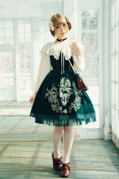 Royal Green coordinate by FairyEmily