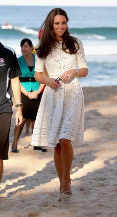 Kate Middleton in a Zimmerman eyelet dress