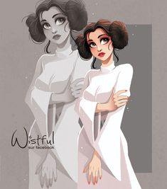 """289 Likes, 5 Comments - Wistful (@wistful.art) on Instagram: """"My tribute to actress Carrie Fisher with an illustration of Princess Leia from the Starwars saga ❤️…"""""""