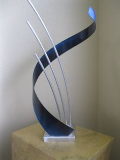 Abstract Metal art sculpture indoor/outdoor garden by Holly Lentz. $149.00, via Etsy.
