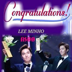 26/5/2015 ... Congratulations Oppatiiiii Lee Min Ho , For The 2 Awards ...