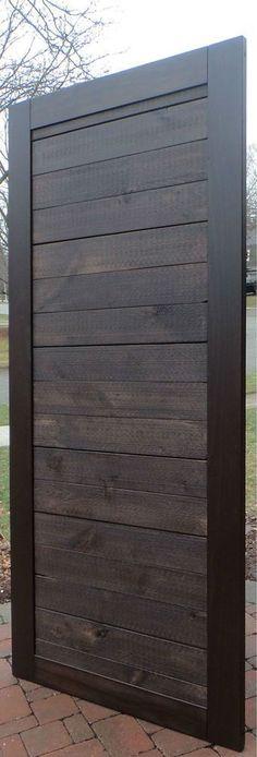 Refined Rustic Barn Door - Horizontal Boards