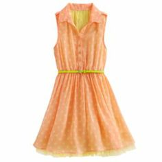 Knitworks Dot Lace-Back Dress - Girls 7-16 $26.99 @ Kohl's