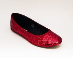 083ecc3dc Custom Made Red Sequin Ballet Flats Red Ballet Flats