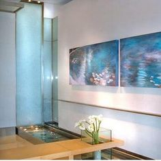 Feng Shui Home for Wealth, Step Feng Shui Colors and Ancient Chinese Symbols - Janet Bach - indoorwaterfountains Indoor Waterfall Wall, Indoor Waterfall Fountain, Indoor Wall Fountains, Tabletop Water Fountain, Small Fountains, Indoor Fountain, Water Fountains, Fountain Ideas, Feng Shui Water Element