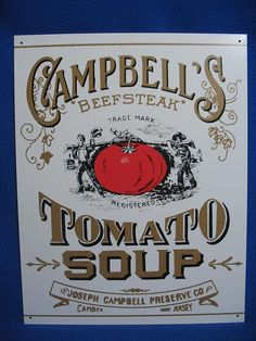 Vintage Tin Sign Campbell's Beefsteak by HayesDayPhotography