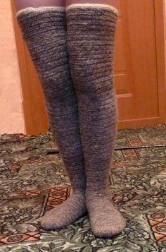 Nadelbinden Kniestrumpf / Naalbinding Knee Sock