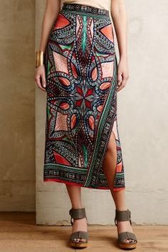 Maeve Geoda Wrap Skirt