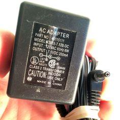 40115111 N3515-7.520-DC 7.5V DC 200mA Power Supply AC Adapter
