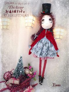 Emma Urchin Art Doll by Vicki at Lilliput Loft