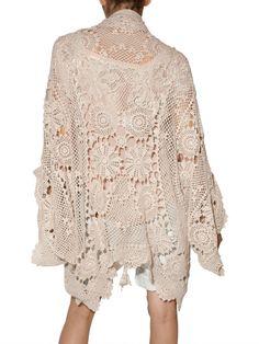 Mes Demoiselles Jean-Lud Crochet Cardigan in beige