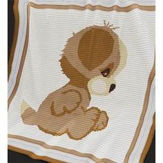 CROCHET Baby Blanket / Afghan - Puppy