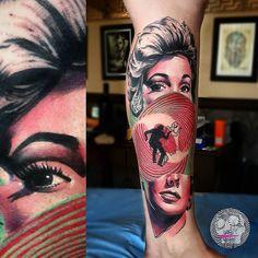 Vértigo De Hitchcock by @tin_machado in Buenos Aires Argentina. #hitchcock #alfredhitchcock #movietattoos #tinmachado #buenoaires #argentina #tattoo #tattoos #tattoosnob