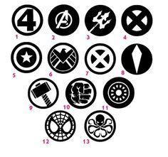 Marvel Logo, Marvel Fan, Marvel Dc Comics, Marvel Avengers, Avengers Tattoo, Marvel Tattoos, Flor Tattoo, Avengers Symbols, Superhero Family