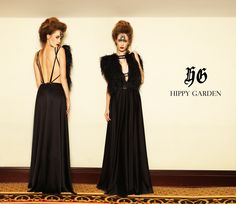 HIPPY GARDEN BLACK ROMANCE  Ova unikatna - fantastična haljina je zaista nešto posebno. U gornjem dijelu ukrašena umjetnim lepršavim materijalom i otvorenim leđima, idealna je za prigode gdje ćete besprijekorno zablistati. http://www.hippygarden.net/en_US/product/black-romance #hippygarden #marquisemaestoso