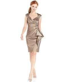 Mother of Bride  Maggy London Dress, Cap-Sleeve Beaded Ruffled - Womens Dresses - Macy's
