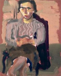 Mark Rothko. 'Untitled (Seated Woman with Crossed legs)'. Watercolour and gouache on paper. Date unknown.