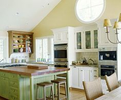 house interior design ideas simple kitchen house interior ll feel comfortable rustic themed house Vaulted Ceiling Kitchen, Vaulted Ceiling Lighting, Vaulted Ceilings, Ceiling Fans, Kitchen Ikea, Kitchen Decor, Kitchen Island, Kitchen Cabinets, Kitchen Display