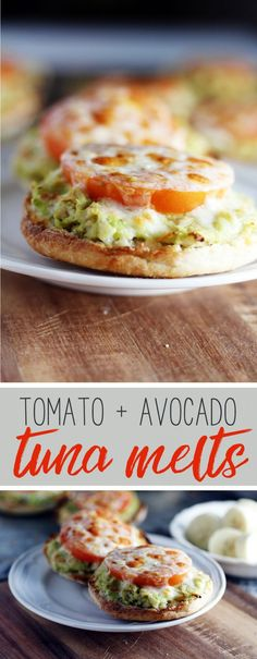 AD  You have to try our fast + easy recipe for Tomato + Avocado Tuna Melts. Made with 100% line caught wild albacore tuna from Blue Harbor Fish Co., these are a healthy lunch option.   Mash together avocado + tuna, top with fresh tomato and cheese and bake. So yummy!  #BlueHarbor #tunamelt