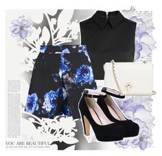 """""""You are beautiful"""" by syoungju ❤ liked on Polyvore featuring Élitis, Universal Lighting and Decor, McQ by Alexander McQueen, Tory Burch, Girls On Film and yoins"""