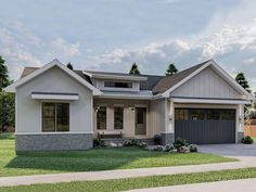 050H-0388: Bungalow House Plan for Empty-Nesters